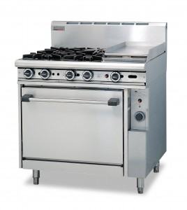 Trueheat oven range 900 wide griddle