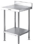 Stainless steel freestanding work bench with upstand 450mm long 600 mm deep