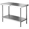 Stainless steel freestanding work table 600x600